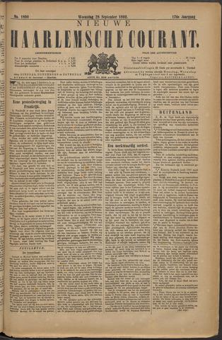 Nieuwe Haarlemsche Courant 1892-09-28