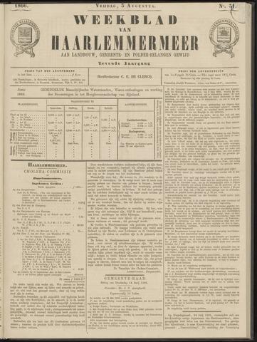 Weekblad van Haarlemmermeer 1866-08-03