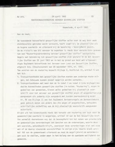 Raadsnotulen Heemstede 1982-04-29
