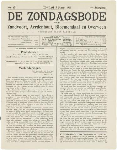 De Zondagsbode voor Zandvoort en Aerdenhout 1916-03-05