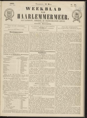 Weekblad van Haarlemmermeer 1869-05-21
