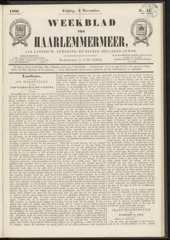 Weekblad van Haarlemmermeer 1860-11-02