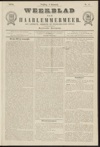 Weekblad van Haarlemmermeer 1872-01-05