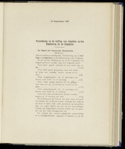 Raadsnotulen Heemstede 1910-09-15