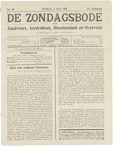 De Zondagsbode voor Zandvoort en Aerdenhout 1915-07-04
