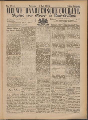 Nieuwe Haarlemsche Courant 1903-07-18