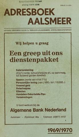Adresboeken Aalsmeer 1969