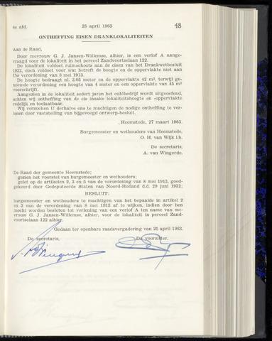 Raadsnotulen Heemstede 1963-04-25