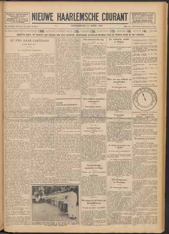 Nieuwe Haarlemsche Courant 1930-04-24
