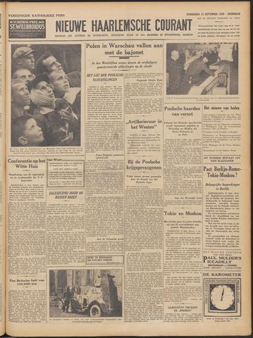 Nieuwe Haarlemsche Courant 1939-09-21