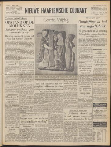 Nieuwe Haarlemsche Courant 1958-04-04