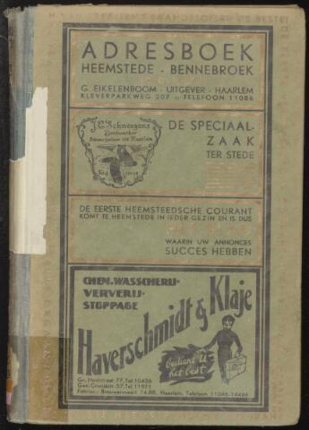 Adresboeken Heemstede, Bennebroek 1930