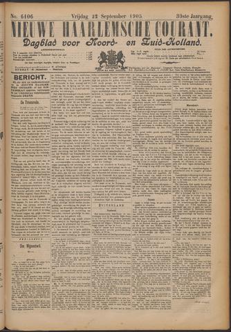 Nieuwe Haarlemsche Courant 1905-09-22