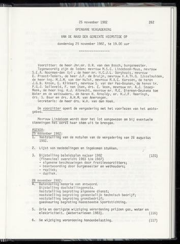 Raadsnotulen Heemstede 1982-11-25