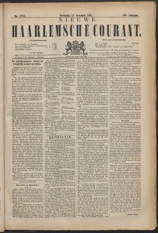 Nieuwe Haarlemsche Courant 1891-11-25