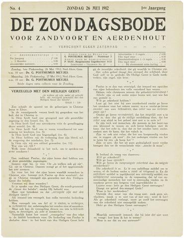 De Zondagsbode voor Zandvoort en Aerdenhout 1912-05-26