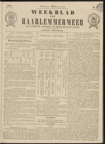 Weekblad van Haarlemmermeer 1867-01-18