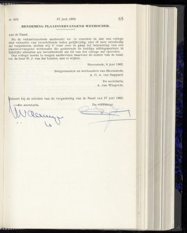 Raadsnotulen Heemstede 1963-06-27