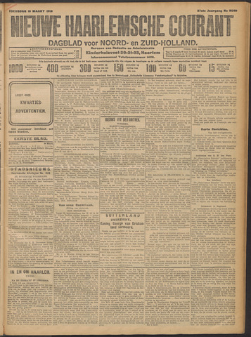 Nieuwe Haarlemsche Courant 1913-03-19