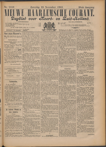 Nieuwe Haarlemsche Courant 1903-11-28