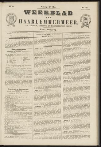 Weekblad van Haarlemmermeer 1870-05-27