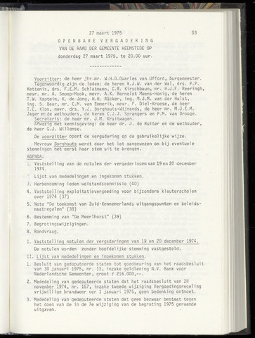 Raadsnotulen Heemstede 1975-03-27