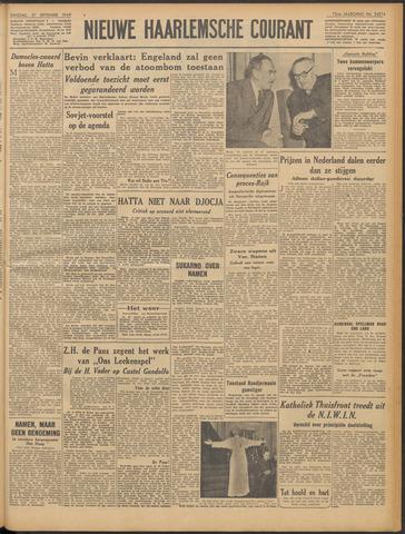Nieuwe Haarlemsche Courant 1949-09-27