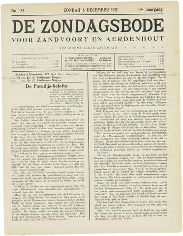 De Zondagsbode voor Zandvoort en Aerdenhout 1912-12-08