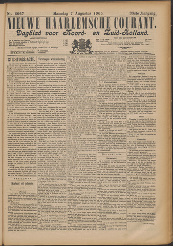 Nieuwe Haarlemsche Courant 1905-08-07