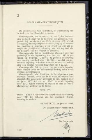 Raadsnotulen Heemstede 1943-01-28