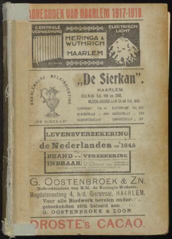 Adresboeken Haarlem 1917