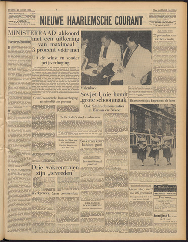 Nieuwe Haarlemsche Courant 1956-03-20