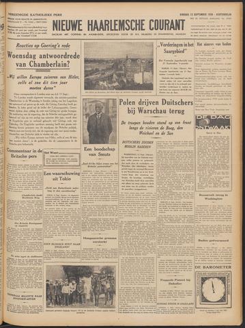 Nieuwe Haarlemsche Courant 1939-09-12