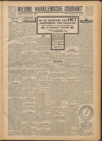 Nieuwe Haarlemsche Courant 1922-09-08