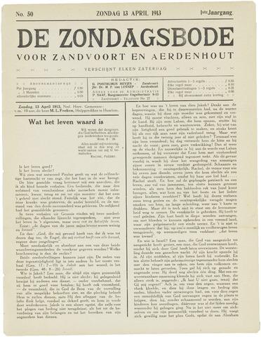 De Zondagsbode voor Zandvoort en Aerdenhout 1913-04-13