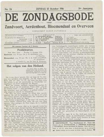 De Zondagsbode voor Zandvoort en Aerdenhout 1916-10-15
