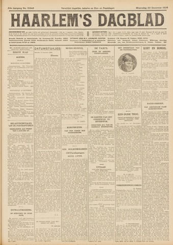 Haarlem's Dagblad 1926-12-22