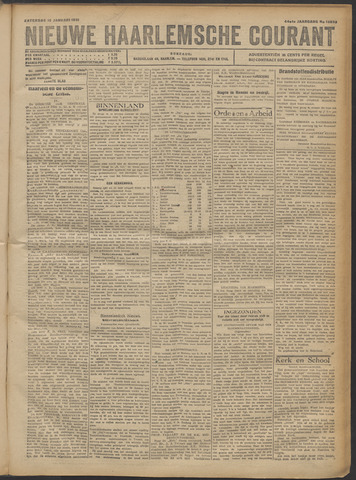 Nieuwe Haarlemsche Courant 1921-01-15