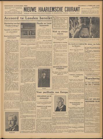Nieuwe Haarlemsche Courant 1935-02-04