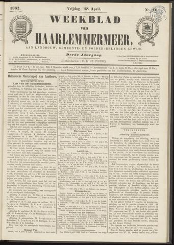 Weekblad van Haarlemmermeer 1862-04-18