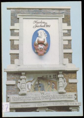 Jaarverslagen en Jaarboeken Vereniging Haerlem 1981