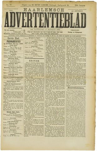 Haarlemsch Advertentieblad 1889-09-28
