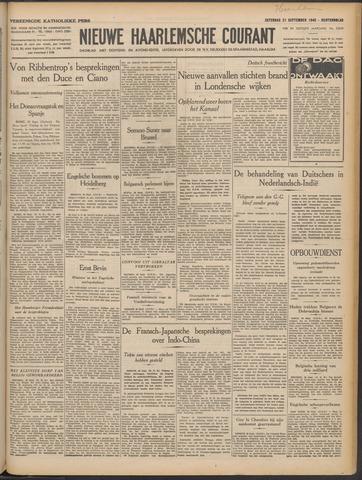 Nieuwe Haarlemsche Courant 1940-09-21