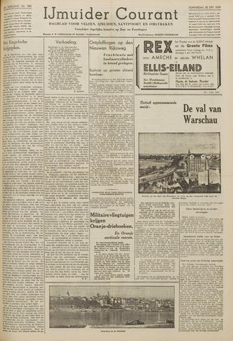 IJmuider Courant 1939-09-28