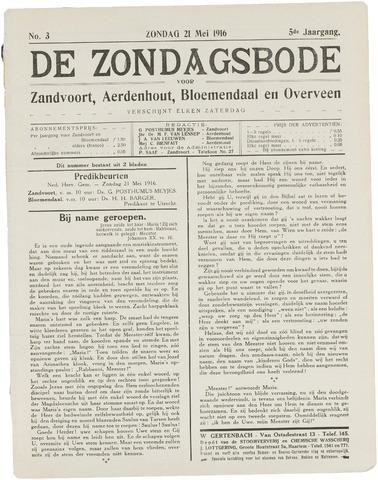 De Zondagsbode voor Zandvoort en Aerdenhout 1916-05-21