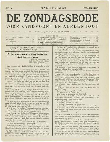 De Zondagsbode voor Zandvoort en Aerdenhout 1913-06-15
