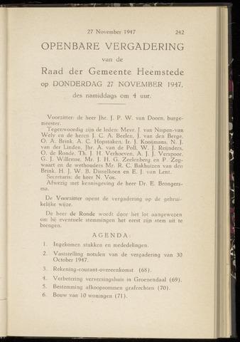 Raadsnotulen Heemstede 1947-11-27