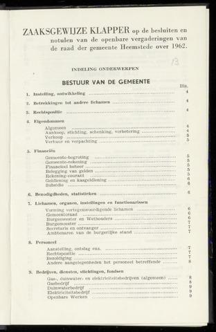 Raadsnotulen Heemstede 1962-01-01
