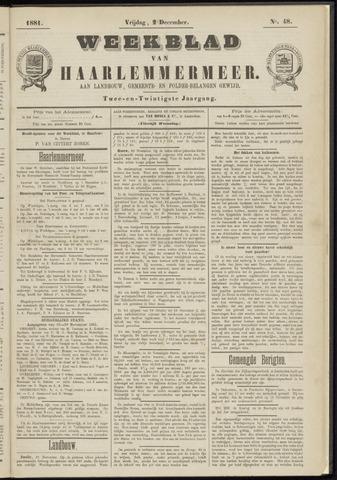 Weekblad van Haarlemmermeer 1881-12-02