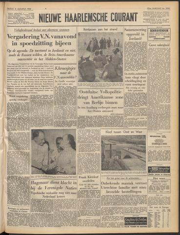 Nieuwe Haarlemsche Courant 1958-08-08